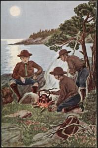 Speidergutter_ved_bålet_Boy_scouts_camping